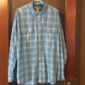 Duluth Trading Co Shirts - Duluth blue plaid long sleeve button vented shirt
